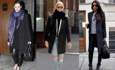 пальто черного цвета