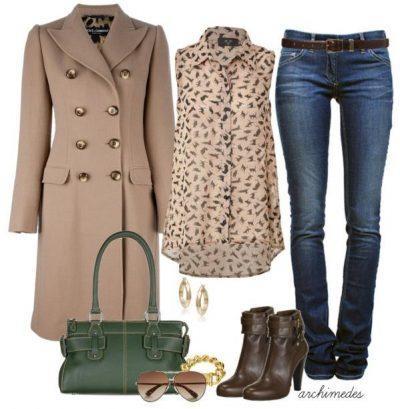 пальто цвета беж