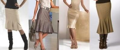 Модели юбок в клетку для женщин 45-55 лет