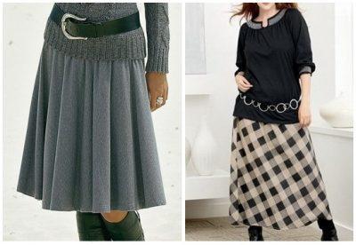 длинная юбка выкройка трикотажная