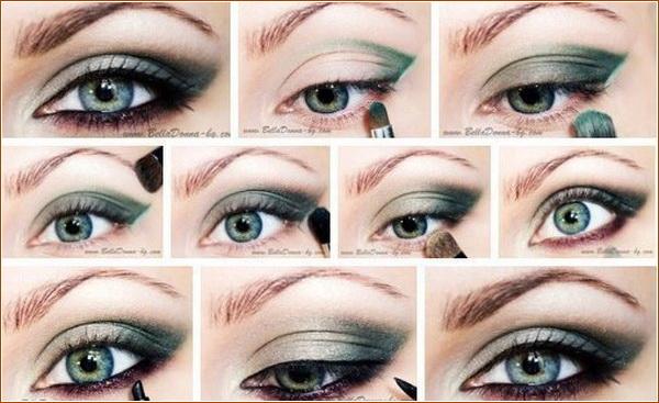 Макияж на работу для зеленых глаз