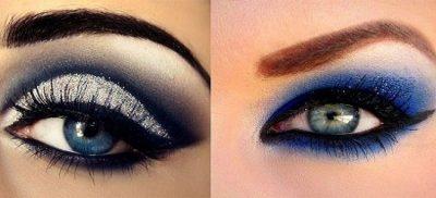 как краситься при голубых глазах