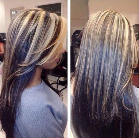 колорирование и мелирование на темные волосы фото