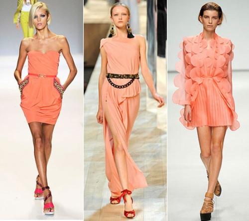 Персиковый цвет в одежде