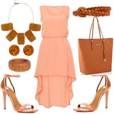 с чем носить персиковый