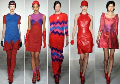 Красные цвета в одежде