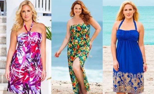 Платье для пляжа на полных