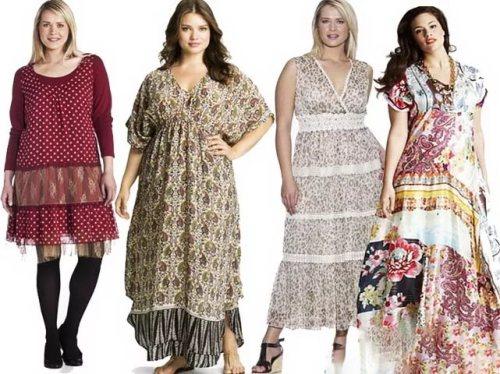ee67c8b97aab Одежда в стиле бохо на полных женщинах - примеры образов