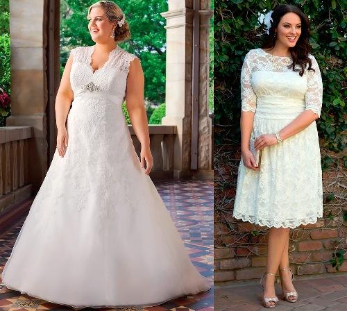 ce65a65471b Свадебные платья для полных девушек - как выбрать