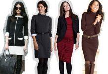 С чем носить платья зимой